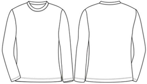 image gallery long sleeve t shirt template