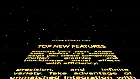 Adobe After Effect Free Template Star Wars Intro Youtube Wars Crawl Powerpoint