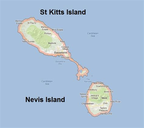 st kitts and nevis map st kitts und nevis alte karte