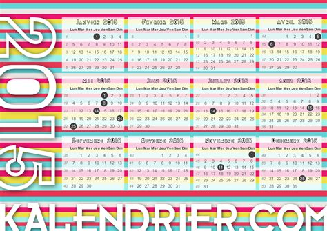 Calendrier Lunaire Jardin Juillet 2015 Imprimer Calendrier 2015 Gratuitement Pdf Xls Et Jpg