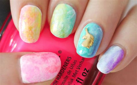 water color nails rainbow watercolor nails using a sponge