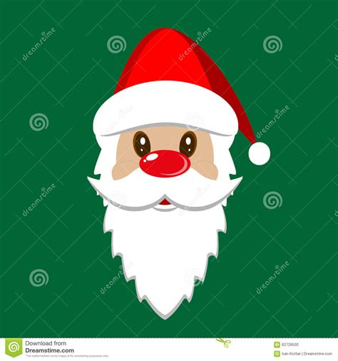 card templates insert faces santa stock vector image 62728500