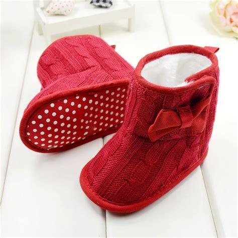 newborn baby winter snow boots toddler warm knit wool