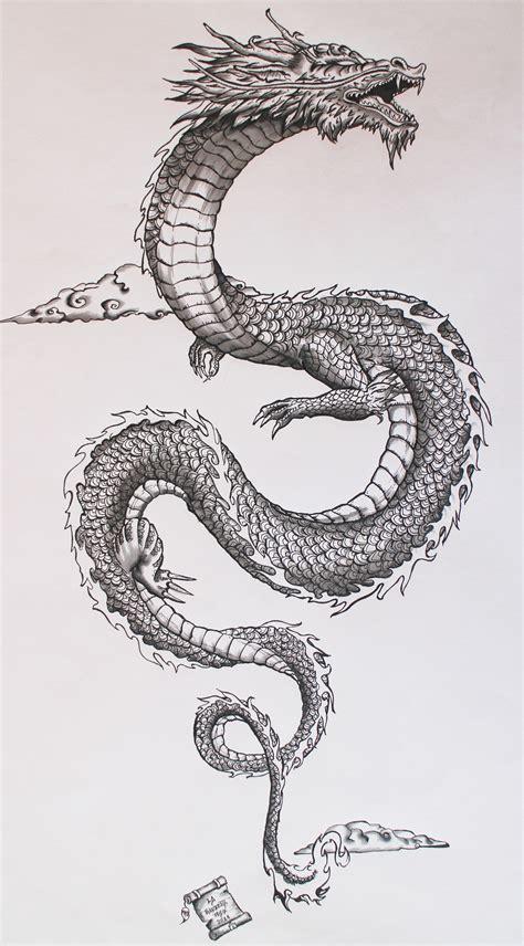 asian dragon tattoo ancient japanese on behance