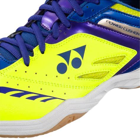 Yonex Power Cushion 34 Badminton Blue Original yonex power cushion shb 34ex badminton shoes yellow and blue buy yonex power cushion shb