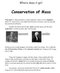 Conservation Of Mass Worksheet Answers by Conservation Of Mass Worksheet Lesupercoin Printables Worksheets