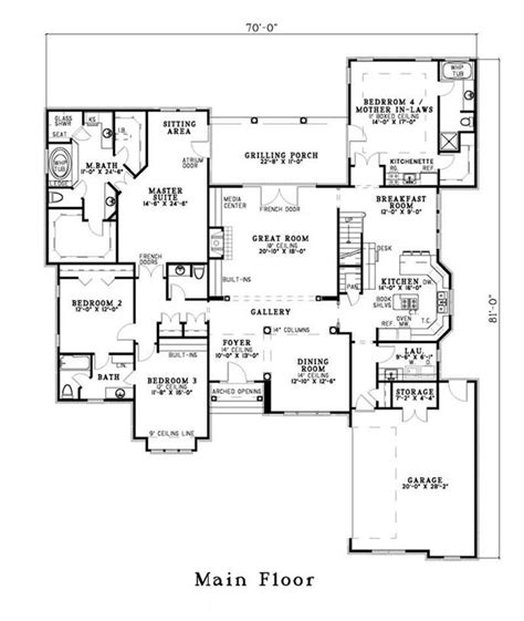 house plans with inlaw quarters 28 images house