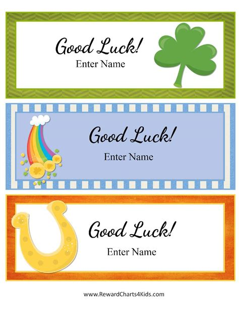 free printable luck card template free luck cards for customize print