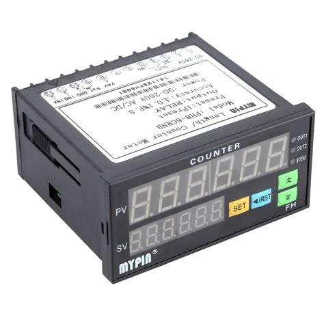 90 260v Ac Dc Preset 4 Digital Counter Length Meter Relay Output 90 260v ac dc digital electronic counter length batch meter 1 preset relay output similar