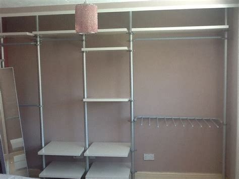 open clothes storage system diy open wardrobe system ikea stolmen items for sale in