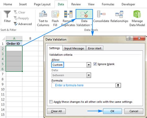 excel 2007 format data validation input message box how to use data validation in excel custom validation