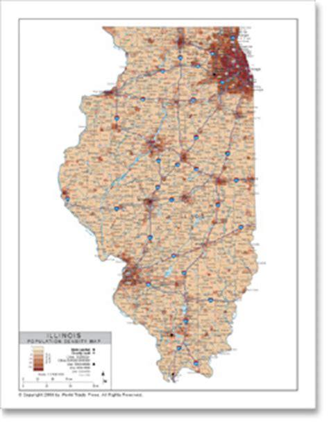 illinois population density map stockmapagency population density map of illinois with
