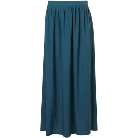 teal maxi skirt polyvore