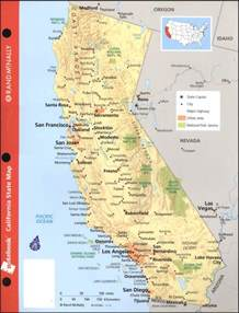 california map geographical features
