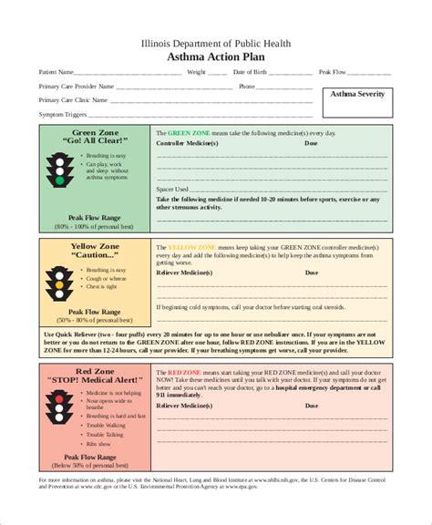 Sle Asthma Action Plan Staruptalent Com Asthma Plan Template