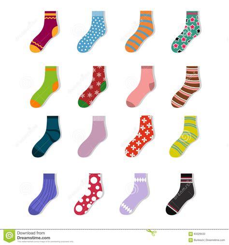 sock background colorful child socks icons sock set isolated on