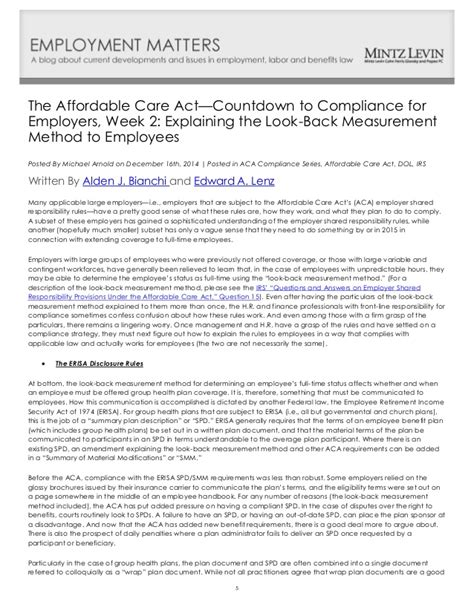 irc section 6056 aca countdown to compliance