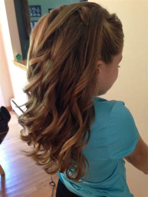 haircuts for juniors long hair half up half down curls junior bridesmaid hairstyles