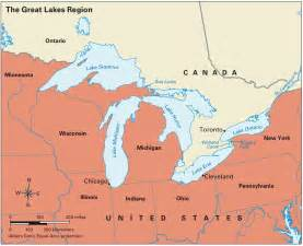 great lake canada map mapping the great lakes