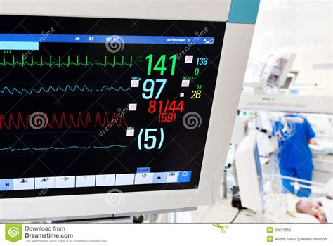 Monitor Icu neonatal icu with monitor stock image image 29821655