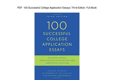 College Application Essay Pdf successful college application essays pdf docoments ojazlink