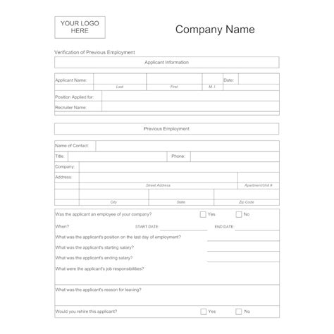 template for employment verifi best resumes