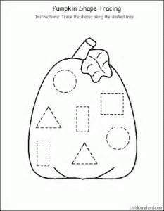 shape trace worksheet for preschool kids crafts and