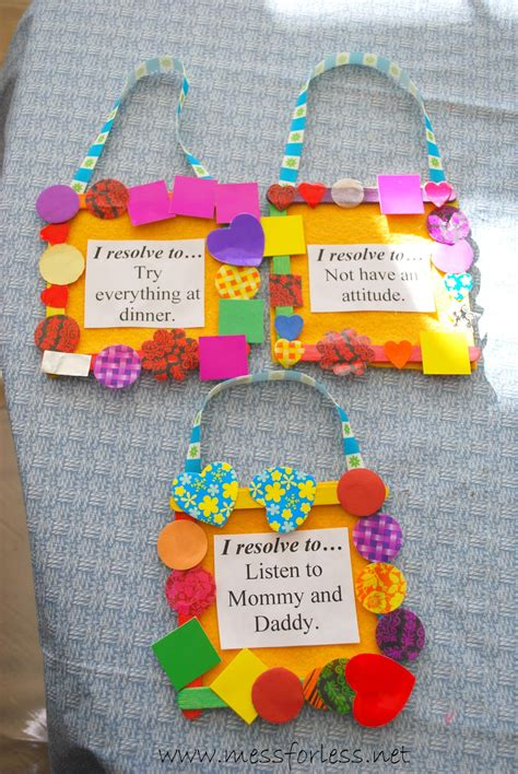 new year craft for preschoolers new year s resolutions for mess for less