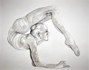 Drawing of gymnastics pictures to pin on pinterest