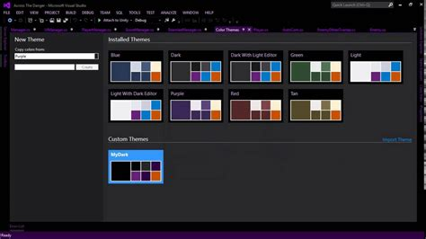 themes for microsoft visual studio how to change or create visual studio theme youtube