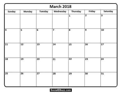 printable march 2018 calendar templates march 2018 calendar printable template with holidays pdf