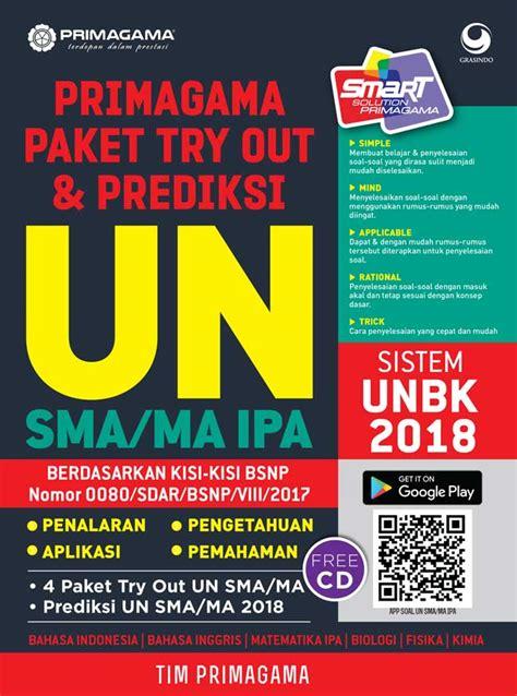 Eksplorasi Un Dan Usbn Sma Ipa 2018 primagama paket try out dan prediksi un sma ma ipa 2018 bukubukularis toko buku