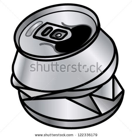 cartoon beer can crushed can clipart