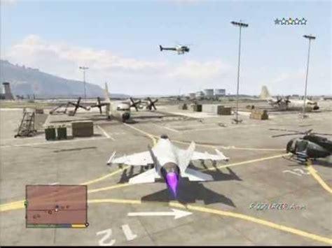 gta 5 base militaire et vol avion (lazer) youtube