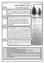 Esl Essay Writing by Esl Worksheets For Beginners Summary Writing