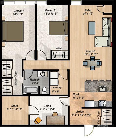 2 bedroom condo floor plan home and outdoor