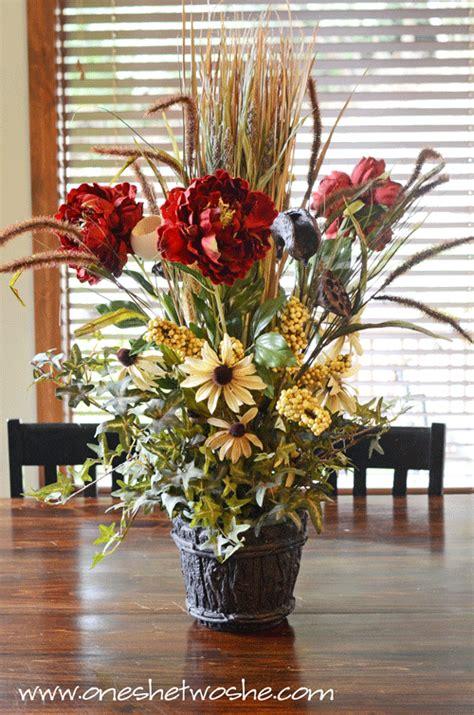 diy silk flower arrangement centerpiece saved 100