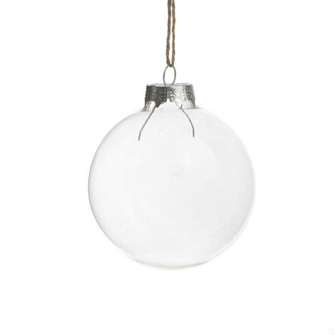 sale dia6cm christmas ornament clear glass ball wedding
