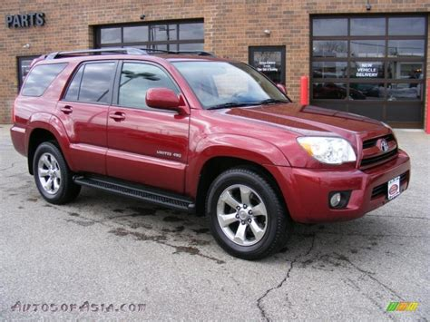 2007 Toyota 4runner 4x4 2007 Toyota 4runner Limited 4x4 In Salsa Pearl