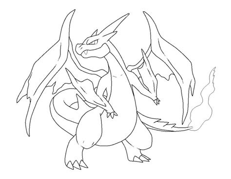mega charizard x coloring page coloring home