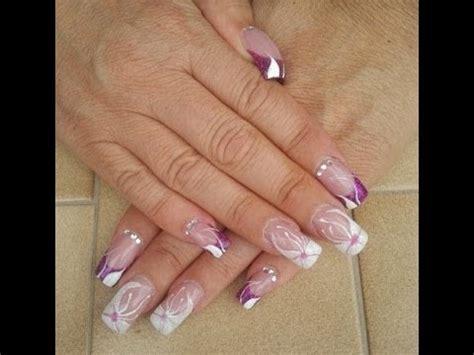nail acrilico fiori nail fiore in gel e acrilico