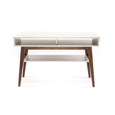 walnut console table with shelf furniture maison touch