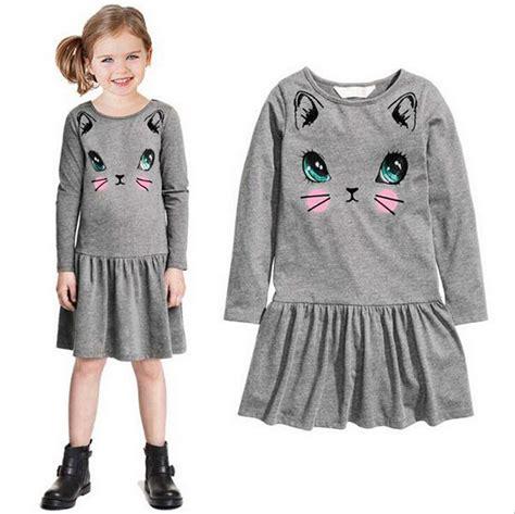 Cat Set T Shirt And Dress 2017 autumn style toddler clothing dress