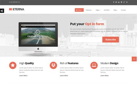 templates of bootstrap eterna complete bootstrap theme business corporate