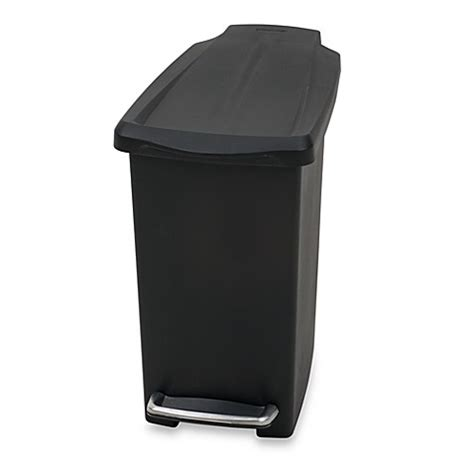 garbage can bed bath and beyond simplehuman 174 mini slim plastic 10 liter step on trash can