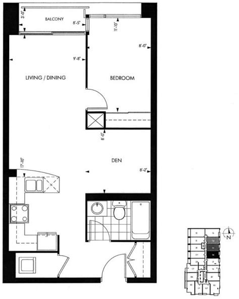 where can i find floor plans for my house 18 yorkville avenue annex toronto condominiums 1 bedroom plus den floor plan 616 square