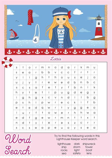 lottie doll lighthouse keeper lighthouse keeper lottie printable word search lottie dolls