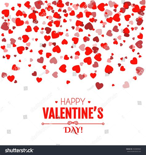 valentines day card design hearts vector stock vector valentine s day card falling hearts blur design vector