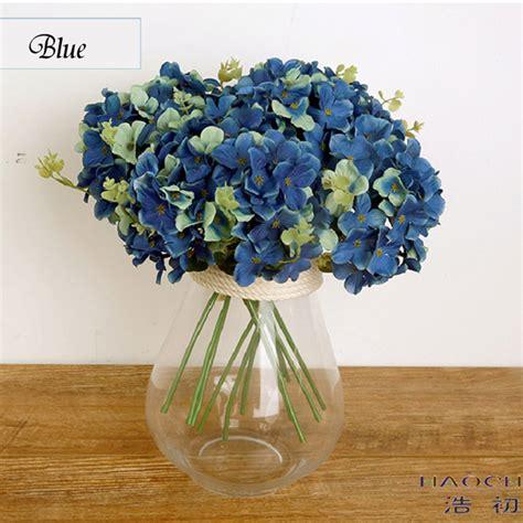 Hydrangea Silk Flower Bouquet 1 popular blue hydrangea bouquet buy cheap blue hydrangea