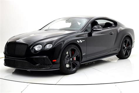 bentley and black 2017 bentley continental gt speed black edition